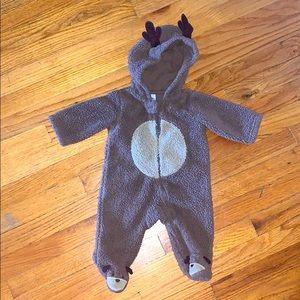 — Carter's — Adorable Hooded Fuzzy Reindeer Footie